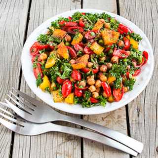 Tomato, Pepper, and Garbanzo Salad with Sumac Recipe