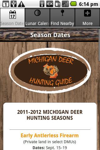 Michigan Deer Hunting Guide- screenshot