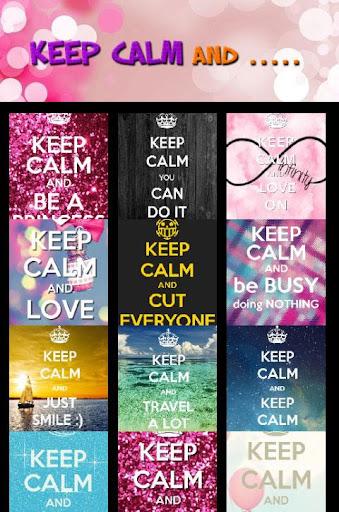 Keep Calm and ... HD Wallpaper
