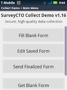 SurveyCTO Collect Demo- screenshot thumbnail