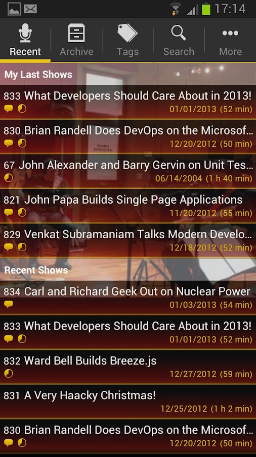 .NET Rocks- screenshot