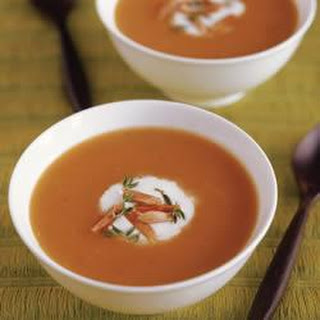 Curried Butternut Squash Soup with Almonds