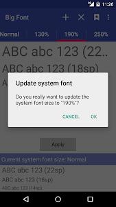 Big Font (change font size) v2.57