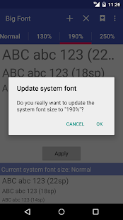 Big Font (change font size)- screenshot thumbnail