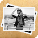 Blanco y negro Photo Frames icon