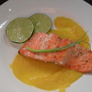 Salmon w Mango Sauce