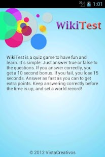 WikiTest (Trivia Quiz Game) - screenshot thumbnail