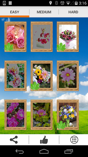 Roses and Flowers Tile Puzzle