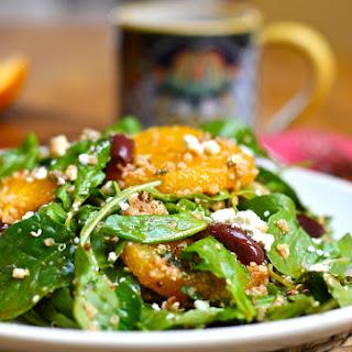 Moroccan Orange Salad with Arugula and Quinoa.