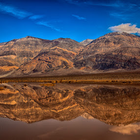 Death Valley reflection by Brent Morris - Landscapes Deserts (  )