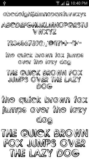 【免費個人化App】Fonts for FlipFont 50 12-APP點子