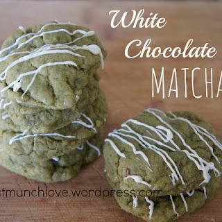White Chocolate Matcha Cookies