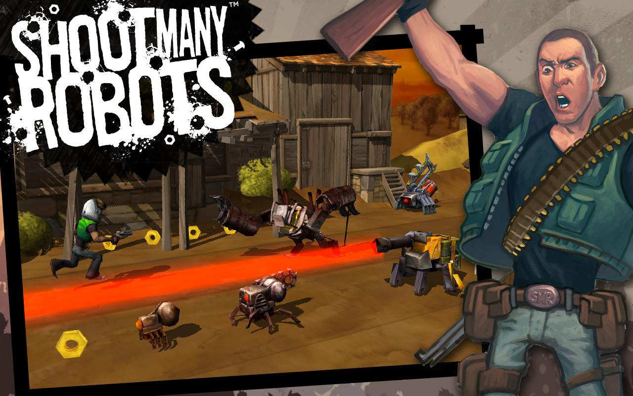 Shoot Many Robots- screenshot