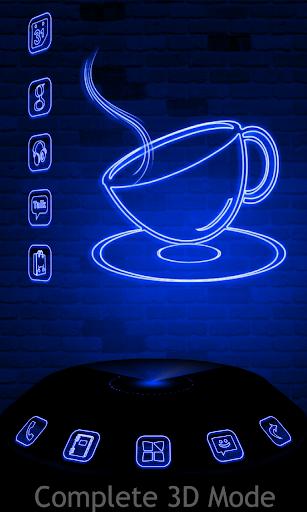 Xenon Blue Next Launcher Theme