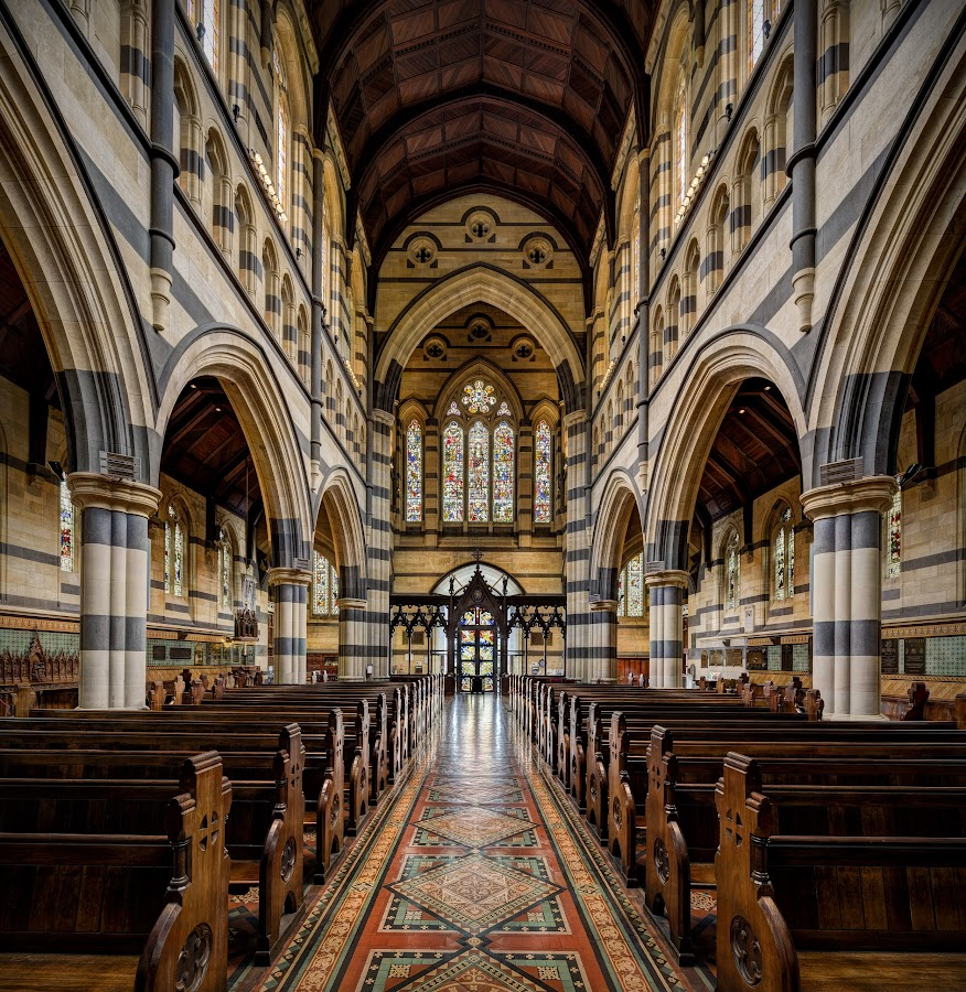 St Paul's Stained Glass by John Williams - Buildings & Architecture Places of Worship ( melbourne, australia, , building, interior, worship )