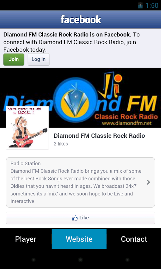 Diamond FM Classic Rock Radio - screenshot