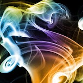 Color smoke slide wallpaper