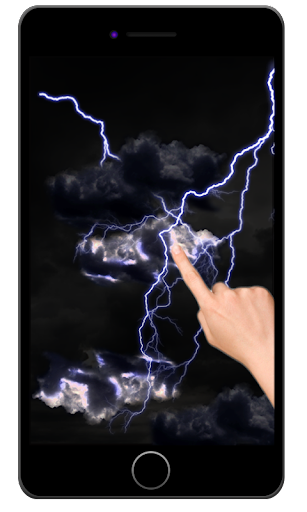 Electric touch storm wallpaper