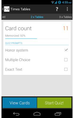 Times Tables - screenshot