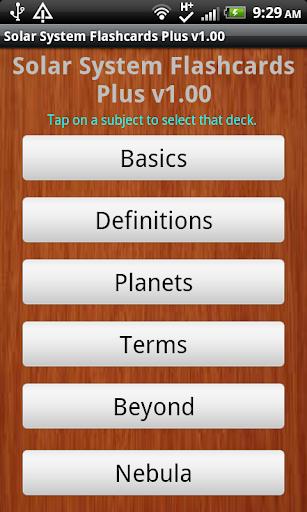 Solar System Flashcards Plus
