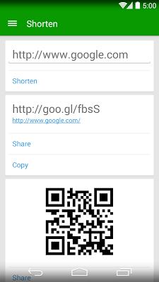 goo.gl URL Shortener - screenshot