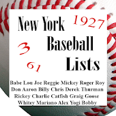 New York Baseball Lists (NYY)