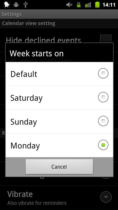 Calendroid - screenshot