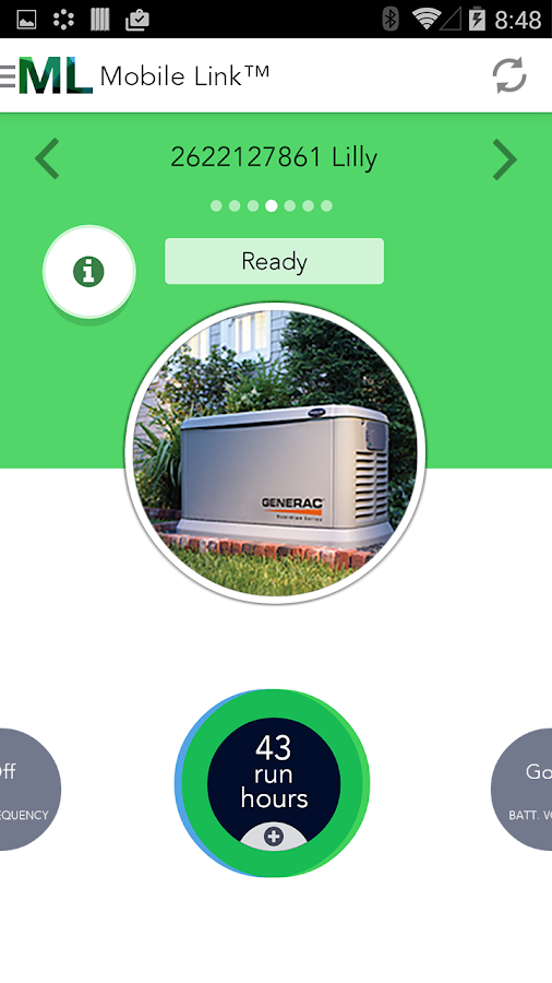 Mobile Link for Generators - screenshot