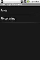 Screenshot of Sions Sånger och Psalmer