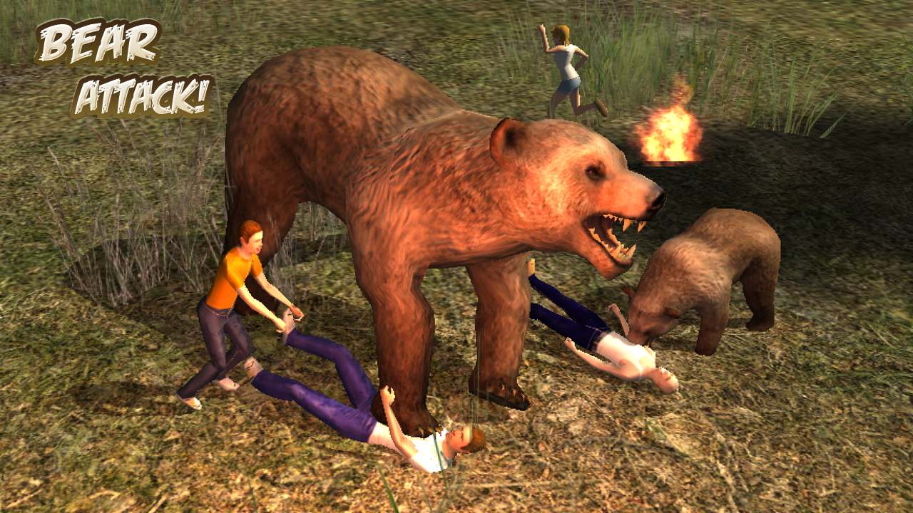 Grizzly bear attack