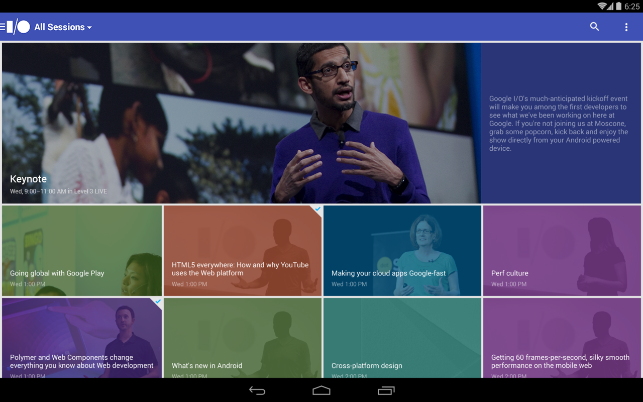 Google I/O 2014 - screenshot