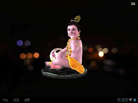3d Krishna Laddu Gopal Live Wallpaper Poster