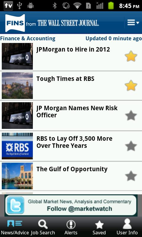 Jobs and News - screenshot