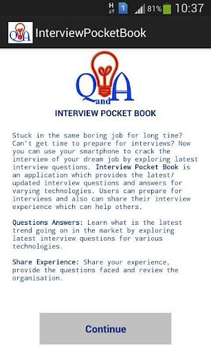 Interview Pocket Book