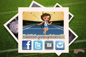 Screenshot of Dress Up! Sporty Girl