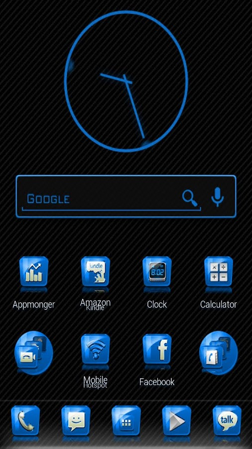 Slick Launcher Theme Blue- screenshot