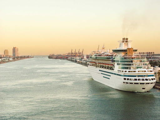 Royal Caribbean's Majesty of the Seas in port in Miami.