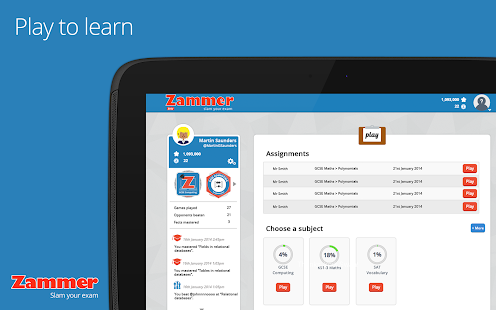 Zammer - Times Tables / SATs- screenshot thumbnail