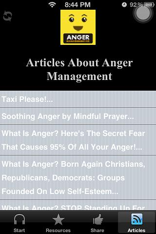 Anger Management Hypnosis App - screenshot