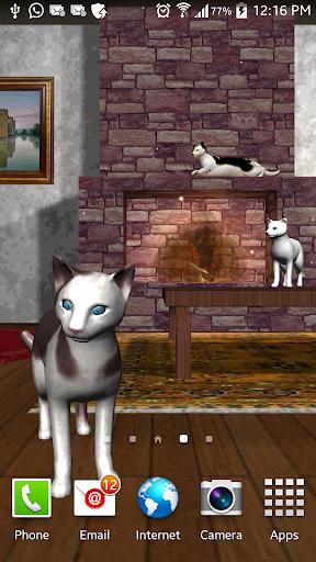 3D Stuning Cats Livewallpaper