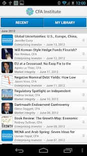 CFA Institute Mobile App - screenshot thumbnail