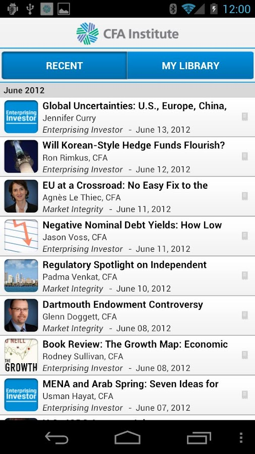 CFA Institute Mobile App - screenshot