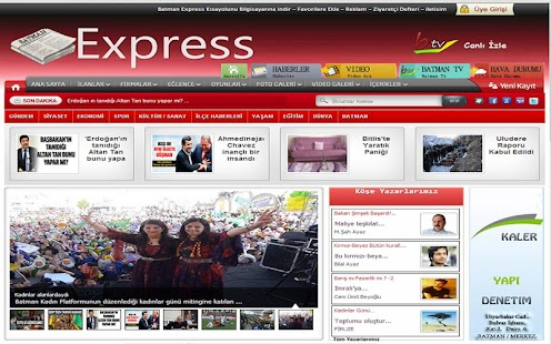 Batman Express Haber Sitesi - screenshot thumbnail