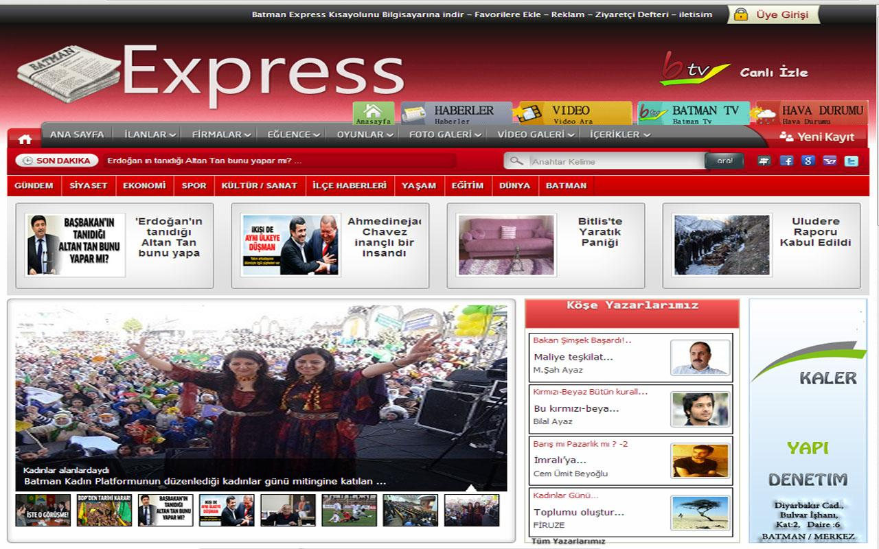 Batman Express Haber Sitesi - screenshot