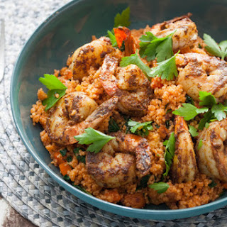 North African Spiced Shrimp with Couscous.