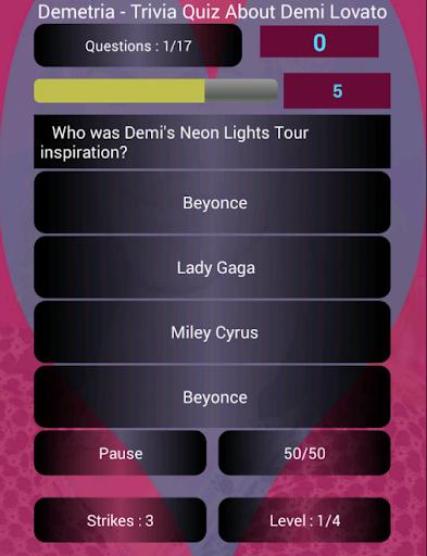 Demetria - Demi Lovato Trivia