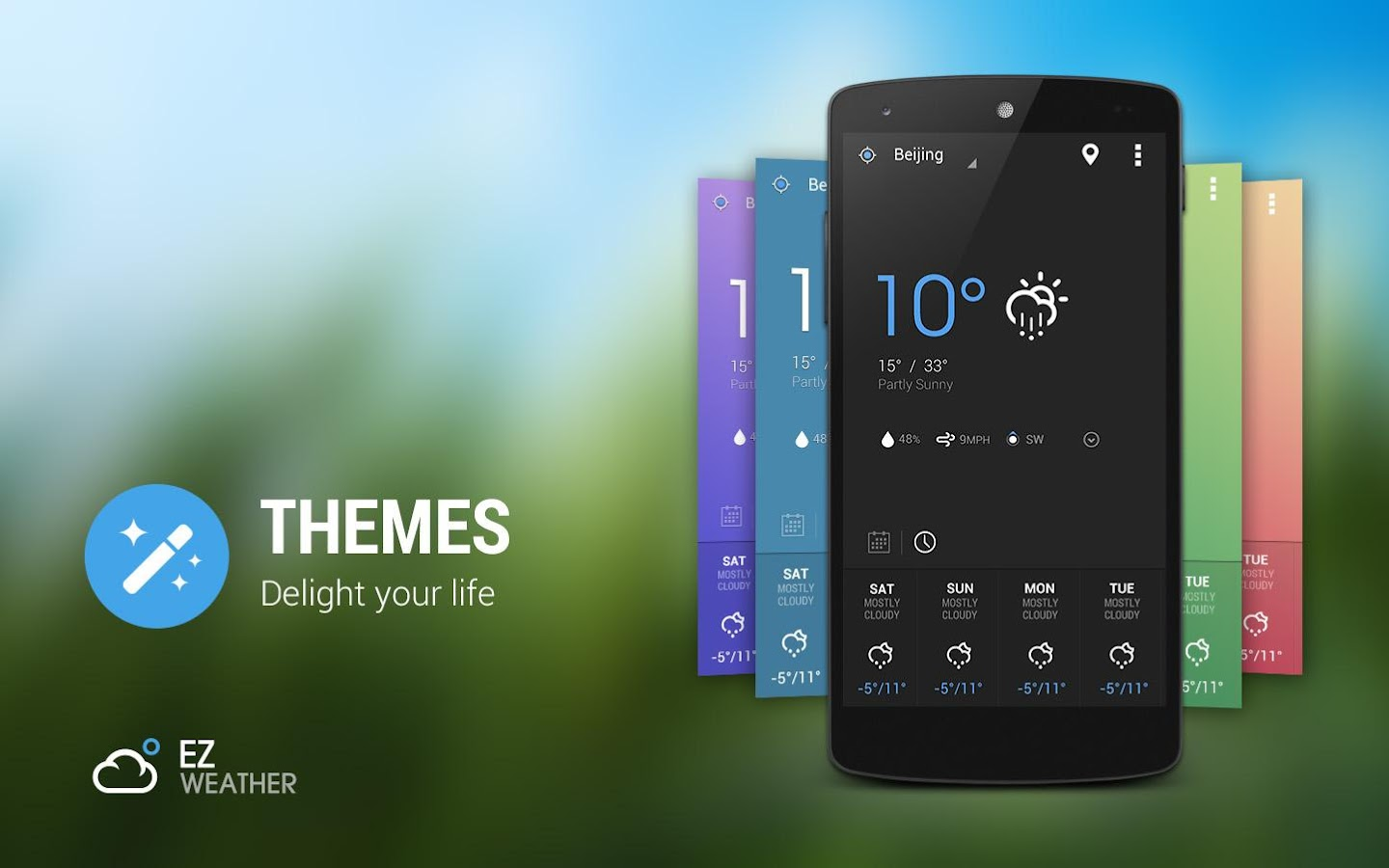 EZ Weather Widget HD Forecast - screenshot