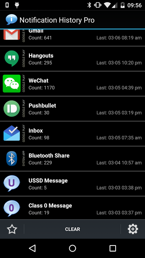 Notification History Pro- screenshot
