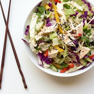 Chinese Chop Salad + Peanut Sesame Dressing.