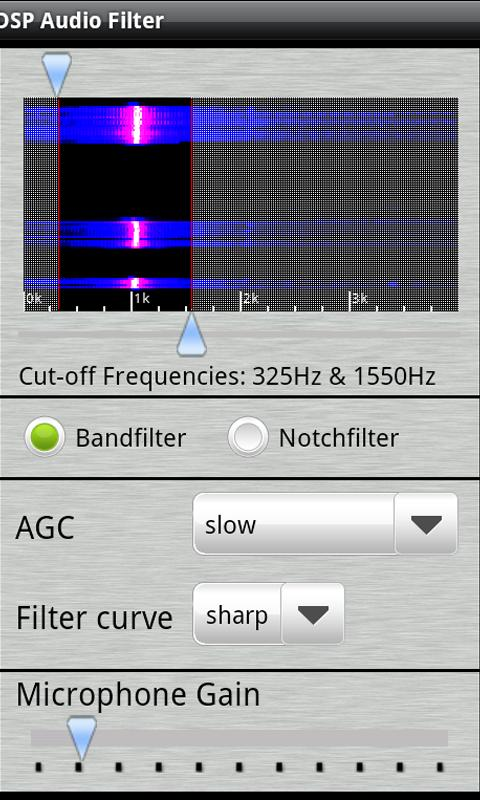 DSP Audio Filter- screenshot